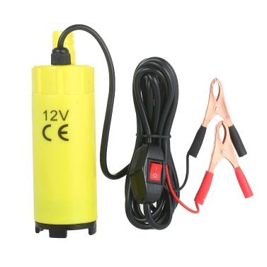 Pompe électrique portable submersible de transfert de carburant de pompe électrique de 60 W avec la taille de sortie du filtre de 19 mm 2 pinces d'aligator pour le pompage de l'eau de kérosène de diesel