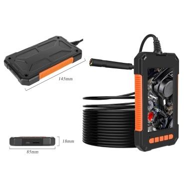 P40 Tragbares industrielles Handendoskop IP67 Wasserdichtes 8-mm-Objektiv 4,3-Zoll-LCD-Bildschirm (flexibles Kabel 10M)