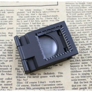 10X 28mm Mini-Zinklegierungs-Faltlupe mit Skala für faltbares Textilglas-Faltvergrößerungswerkzeug