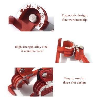 Geeignet für manuelle Rohrbiegemaschinen mit 6 mm / 8 mm / 10 mm und dünnem Rohr. Arbeitssparende, langlebige, verschleißfeste Rohrbiegemaschine mit drei Schlitzen