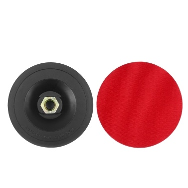 4.5in Hook and Loop Backing Pad 2-Pack Backing Plates with M14×2 Thread for Power Buffer Polisher Angle Grinder Sander