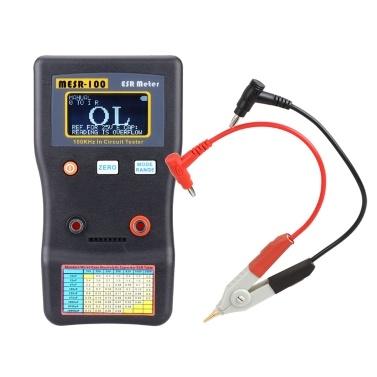 MESR-100 ESR Capacitor Testador Ohm Medidor Profissional Medindo Resistência Interna do Capacitor Capacitância Circuito Testador Capacitor Medidor com SMD Test Clip