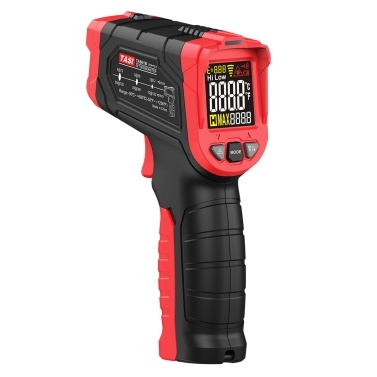 TASI Non-contact IR Infrared Thermometer Digital Handheld Temperature Tester 12:1 Pyrometer Color LCD Display Backlight Centigrade Fahrenheit -50uff5e680u2103(-58uff5e1256u2109)