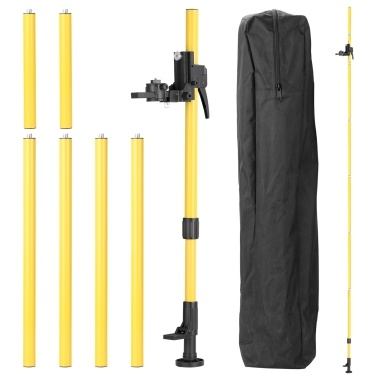 Max 4.2m Height Adjustable Line Leveler Stand Bar Telescopic Pole Bracket 1/4