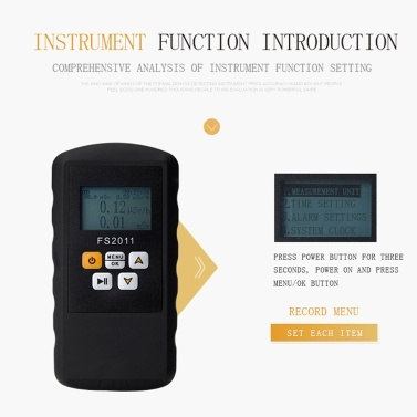 LCD Display Screen Portable Individual Dosage Alarm Device Geiger Counter Handheld Nuclear Radiation Detector Radiation Detection Utility Tool