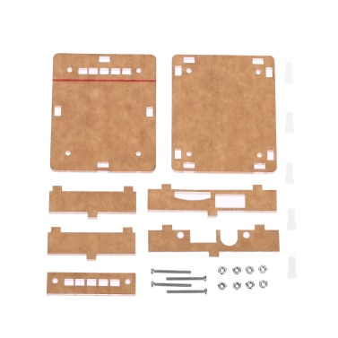 Acryl DIY Fall-Abdeckung Shell für USB DC 5V BT 2.1 Audio Receiver Platine Wireless-Stereo-Musik-Modul mit TF-Karten-Slot