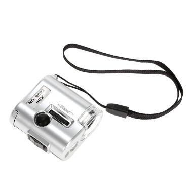 60X Mini Mikroskop Juwelier Lupe Objektiv