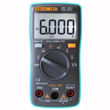 RICHMETERS RM102 True RMS Digital Multimeter DMM DC AC Voltage Current Resistance Diode Capacitance Temperature Tester Measurement