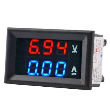 New DC1-100V 10A Digital Double Color Blue & Red LED Display Voltmeter Ammeter Voltage Current Indicator Home Use Tool