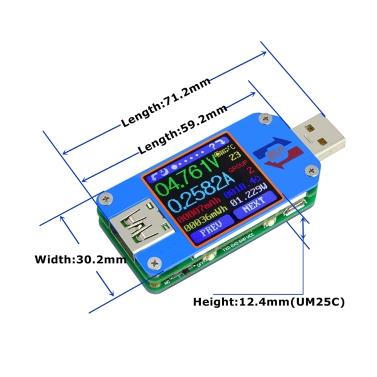 RD UM25C USB 2.0 Type- C Color LCD Display Tester Communication Version
