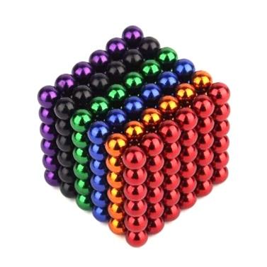 216 Stücke 3mm Magnetische Kugel Set Magische Magnet Cube Gebäude Spielzeug für Stressabbau Mix 6-Color