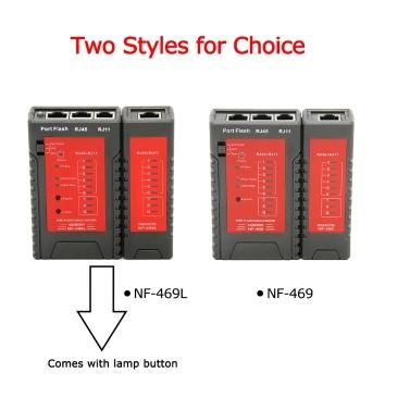 NF-469 Netzwerkkabel Tester RJ45 RJ11 Tester für Ethernet LAN Kabel Festnetztelefon Draht Test Tool
