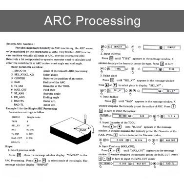 Gitter CNC Fräsen Digitalanzeige Fräsmaschine Bedienfeld Messgeräte