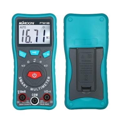 KKmoon Compact Handheld True RMS Auto-Ranging AC / DC DMM Digtal-Multimeter Spannung / Widerstand / Durchgang Berührungslose Spannung / Kapazität / Diodentester Detektor-Prüfgerät mit Taschenlampen-Hintergrundbeleuchtungssummer für Elektriker