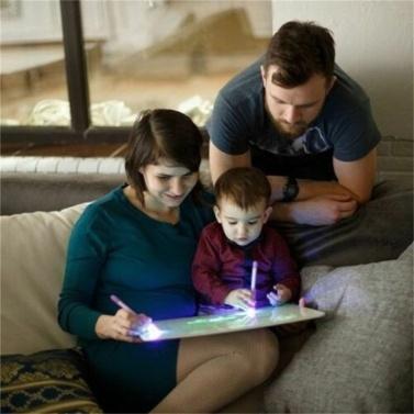 A3 3D leuchtende Zeichenbrett Pad schreiben Malbrett zeichnen mit Licht Spaß und Entwicklung Spielzeug für Kinder Geschenk