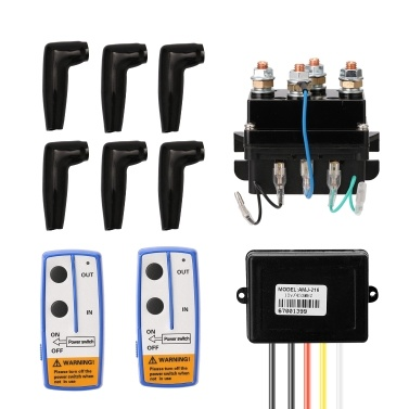 DC12V Universal 400A Winch Solenoid Relay Electric Winch Set