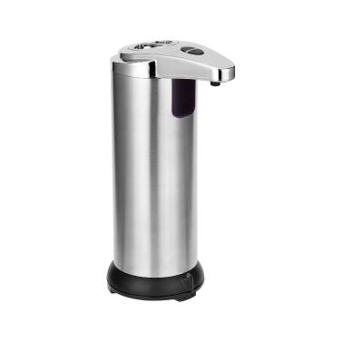 Dispenser di sapone liquido automatico impermeabile senza contatto con sensore IR in acciaio inossidabile 250ML per cucina bagno casa