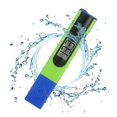 Pen-Typ PH-Messgerät Digitale PH-Tester-Erkennung 0-14 PH-Messbereich Hohe Genauigkeit für Wasserqualitätstests Trinkwasserschwimmbäder für Haushalte