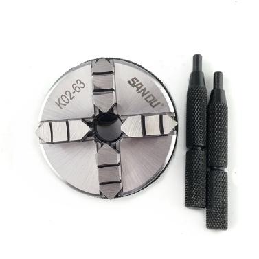 Stahl Holzdrehmaschine DIY Selbstzentrierende Spannfutter Manuelle Spannfutter 3/4 Backen 50 mm 63 mm Insgesamt 4 Optionen