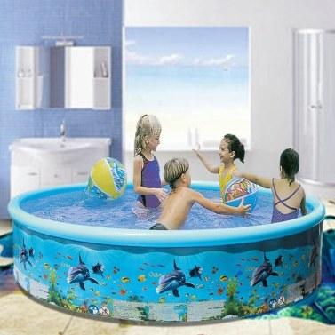 Aufblasbarer Kinderpool Faltbarer Freizeit-PVC-Luftfüllpool für den Haushalt 125 * 30 cm