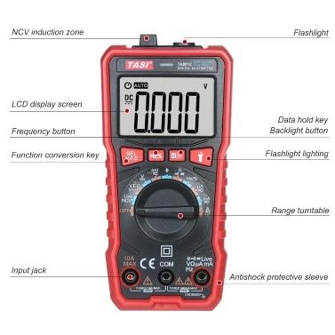 TASI TA801A Digital Multimeter Professional Tester True RMS Multimeter Mini Multifunctional Tester OHM NCV Voltage Meter