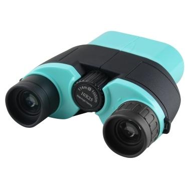 Telescópio binocular Beileshi Porro Prismas 10X25 HD Telescópio compacto de alta definição para pesca ao ar livre em viagem observação de pássaros Jogos de bola de concerto azul