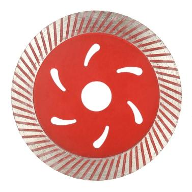 114 * 1,5 * 20mm Trockenschnitt Continuous Turbo Diamantsägeblatt mit Kühlbohrungen 20 mm Innendurchmesser Marmor Granit-Fliese Einschneiden Für Winkelschleifer Architectural Engineering Architekt