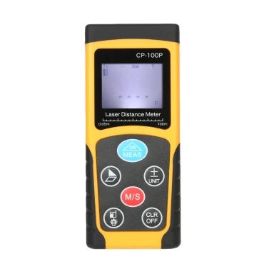 100m tragbare Hand-Digital-Laser-Entfernungsmesser Hohe Präzisions-Bereichs-Finder Bereich Volumenmessung Datenspeicherung mit Hintergrundbeleuchtung