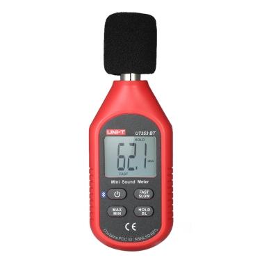 UNI-T UT363BT Mini LCD Digital Anemometer Handheld Windgeschwindigkeit Meter Luftgeschwindigkeit Temperatur Tester mit Schwarzlicht