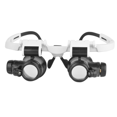 Led Licht Lampe Doppel Brillen Lupe Objektiv Juwelier Uhr Reparatur Messung Top-Mounted Lupe 8X / 15X / 23X 9892H-1