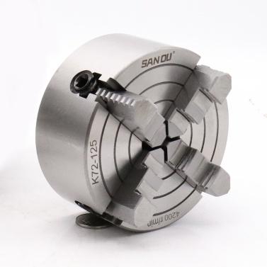 Stahl Für CNC-Bohrfräsmaschine 4-Backen-Drehmaschine Unabhängige Spannfuttersicherheit Hohe Genauigkeit Metallbearbeitung