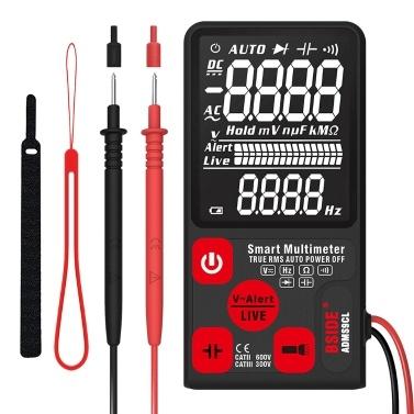 ADMS9CL Multímetro digital automático inteligente Resistência de tensão CA / CC Frequência On-off Identificação automática