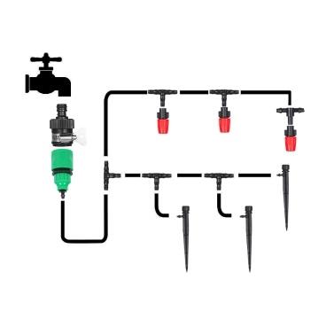 Os acessórios do kit de gotejamento para irrigação por planta incluem o bico atomizador Senhor Dripper