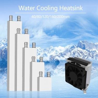 40 * 200mm Aluminium Flüssigkeit-Wasser Kühlblock für Computer CPU Kühler für PC und Laptop CPU Heatsin System