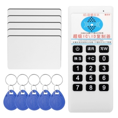 Handheld Portable 125KHz 13.56MHz RFI-D I-C I-D Card Tag Copier Duplicator Cloner Reader Writer