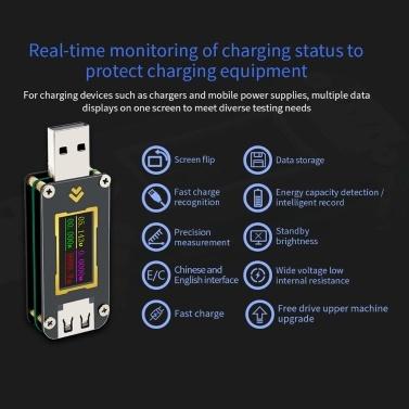 FNB28 Strom- und Spannungsmesser USB-Tester QC2.0 / QC3.0 / FCP / SCP / AFC-Schnellladeprotokoll-Trigger-Kapazitätstest