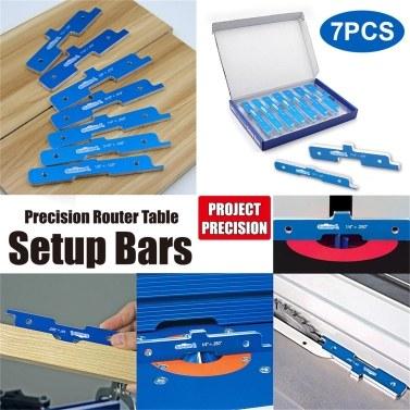 7 STÜCKE Holzbearbeitung Präzision Router Tisch Setup Bars Aluminiumlegierung Tiefe Test Abstand Einrichten Bars