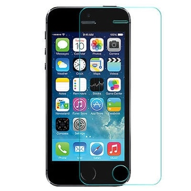 IPhone 5 / 5S 2Dフルカバーリアル強化ガラススクリーンプロテクター用