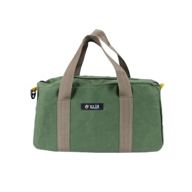 PENGGONG Large Thickened Wear-resistant Maintenance Tool Storage Bag Multifunctional Portable Tool Bag Large Capacity Canvas Bag 16-inch Army Green 168