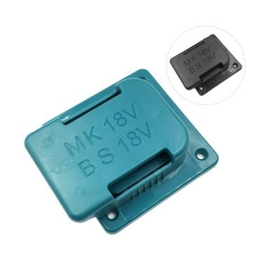 Lithium-Ionen-Batterien Aufbewahrungshalterung für Batteriehalterung und Elektrowerkzeugbasishalter - Ein Set, kompatibel mit BOSCH & Makita 18V Werkzeugbatterie