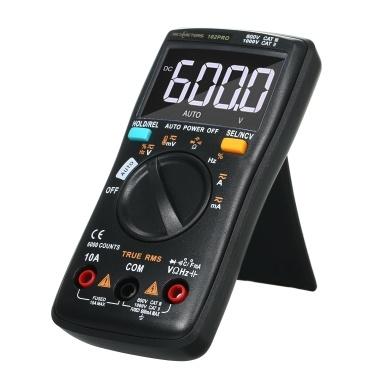 RM102Pro Auto Multimeter 6000 counts Back light AC/DC Ammeter Voltmeter Diode Resistance CapacitanceTemperature