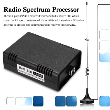 SDR-play RSP1 Radio Spectrum Processor 10kHz~2GHz RF Spectrum Software Radio Compatible with Existing Open Source Radio Software Up to 10 MHz Visible Bandwidth