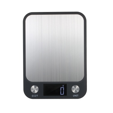High Precision Aluminium Alloy Digital Scale with Waterproof Surface 10kg/1g Electronic Scale LCD Display with Backlight Portable Kitchen Scale Baking Scale