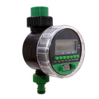 YL21026 Digital Display Water Timer Electronic Ball Valve Irrigation Controller for Auto/Manual Garden Watering