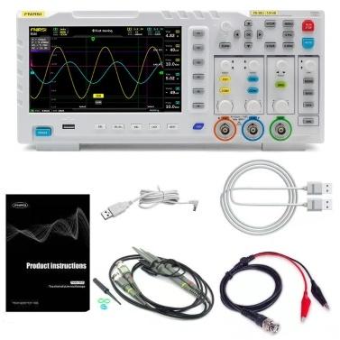 FNIRSI-1014D Display LCD TFT da 7 pollici portatile Schermo due in uno Generatore di segnale di ingresso a doppio canale Oscilloscopio desktop