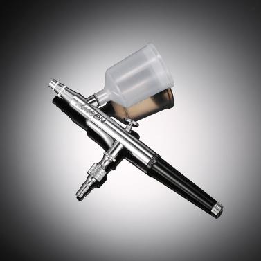 KKmoon Professionelle Hot Verkauf Gravity Feed-Double-Action Airbrush für Kuchen-Dekoration Making Up Tattoo-Maniküre-Luft-Bürsten-Nagel-Werkzeug 0.3mm 20cc 40cc