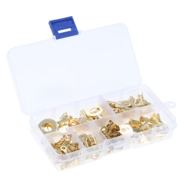 Assorted 150pcs Messing Ring Kabelschuhe Ring Augen Kupfer Crimp Kabelstecker Drahtklemmen M3 M4 M5 M6 M8 M10 Kit