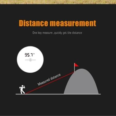 Mileseey 600m Golf Rangefinder Outdoor Handheld Laser Distance Meter Speed Tester