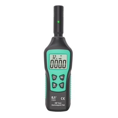 FUYI EMF Meter Rilevatore di radiazioni elettromagnetiche per uso domestico Palmare ad alta precisione elettromagnetico Tester di radiazione Monitor di radiazioni FY876 Nero