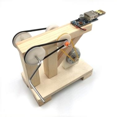 DIY Wood Hand Generator Building Kit  Manual Generator Model Material Set